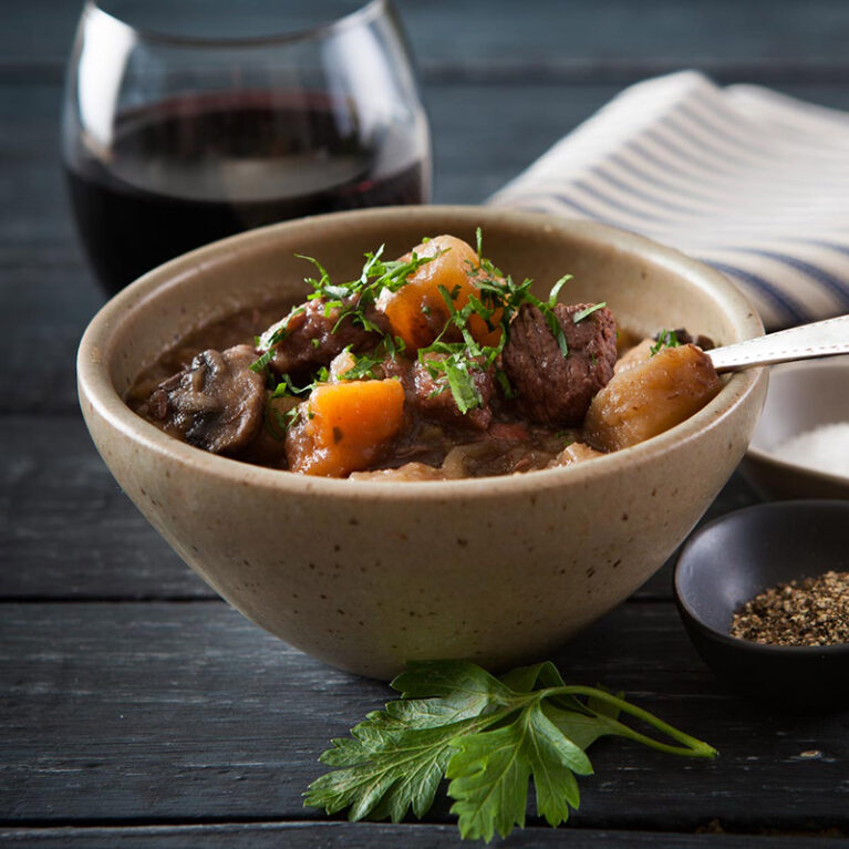 Winter Warmer - Beef and Red Wine Casserole