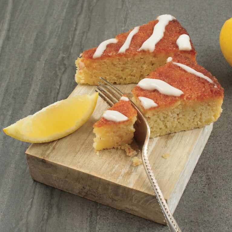Lemon drizzle from our new menu