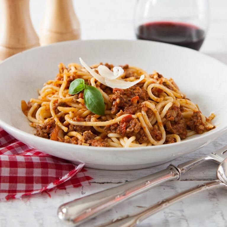 Pasta dishes- spaghetti bolognese