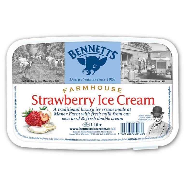 Strawberry Ice Cream - 1L